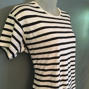 Madewell Striped T-Shirt~Black & White~Size Small